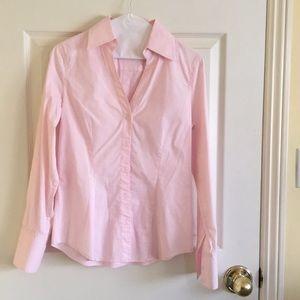 Express pink button up